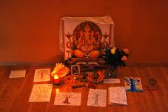 Alberi della Vita all'altare di Ganesha